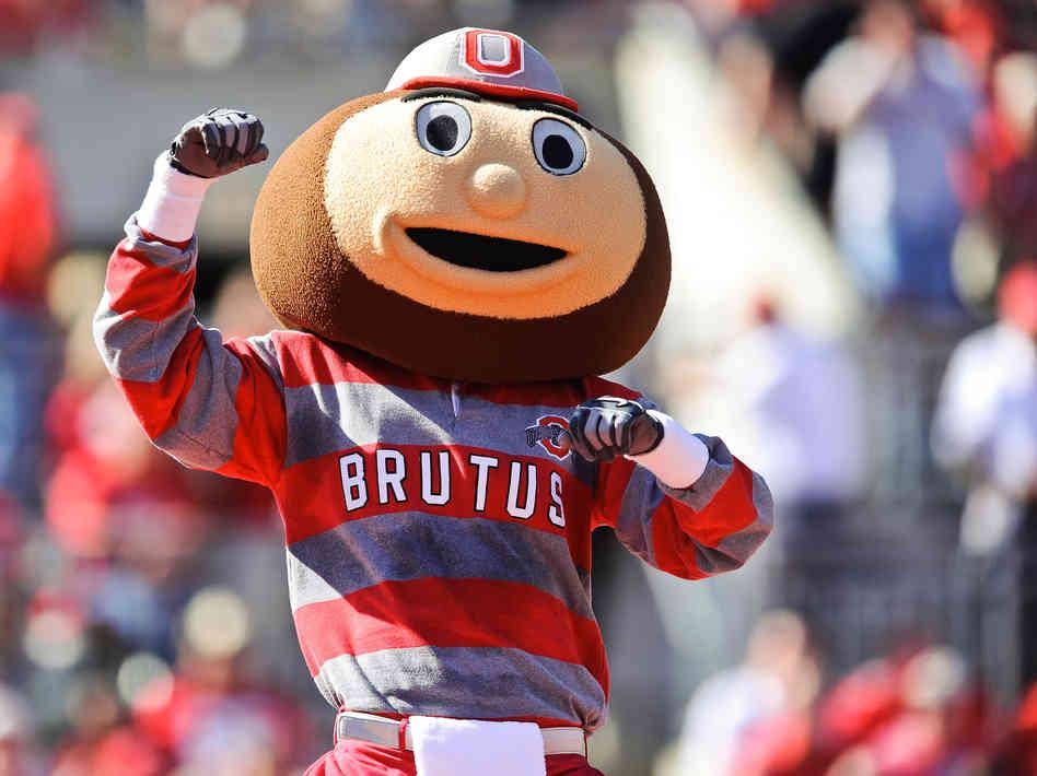 Brutus The Buckeye Ohio State Mascot