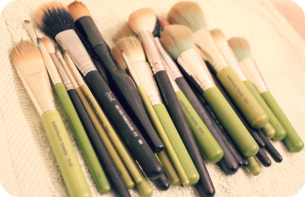 Lightly Wet Your Makeup Brushes Before You Apply Foundation