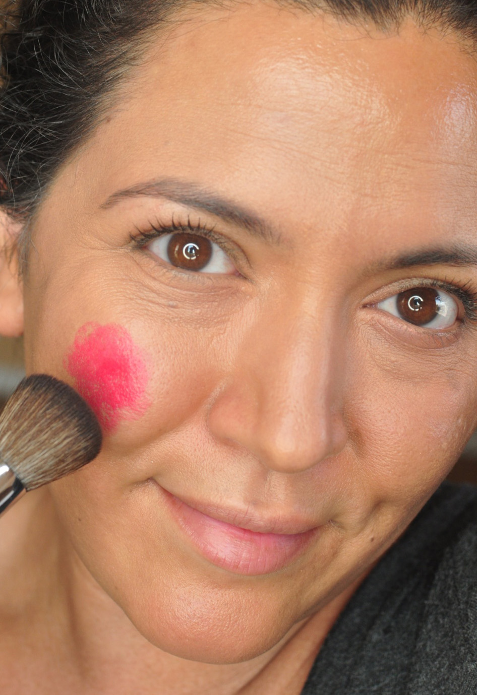 Red Lipstick As Blush