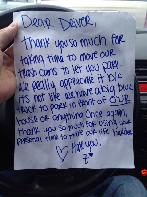Dear Driver
