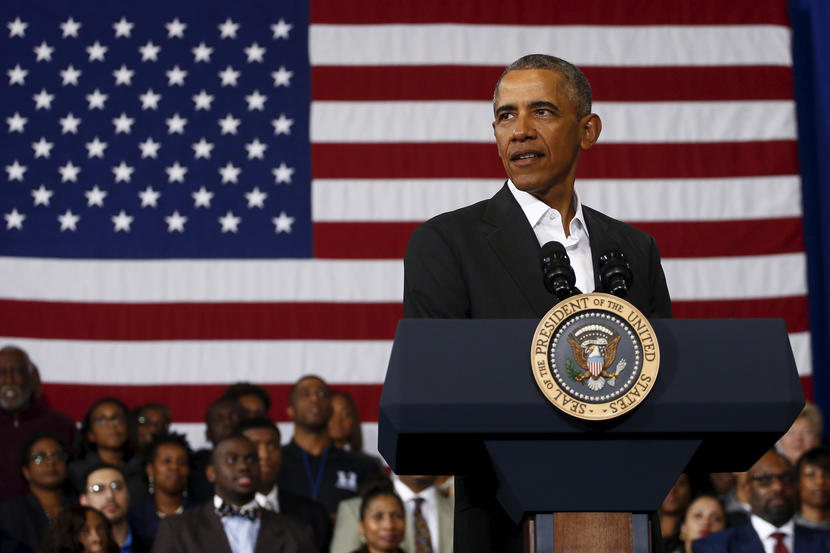 U.S. President Barack Obama Delivers Remarks To Promote Themes From His State Of The Union Address At McKinley High School In Baton Rouge