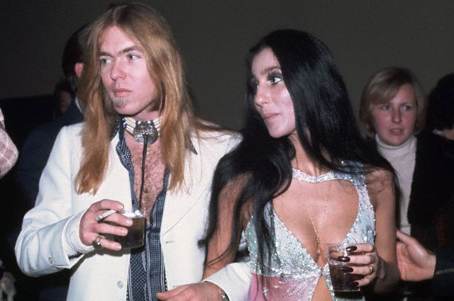 Cher And Gregg Allman At Party