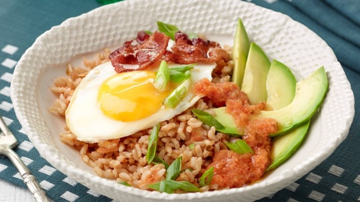 Bacon And Broccoli Rice Bowl