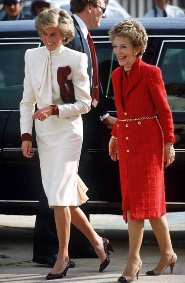With Nancy Reagan