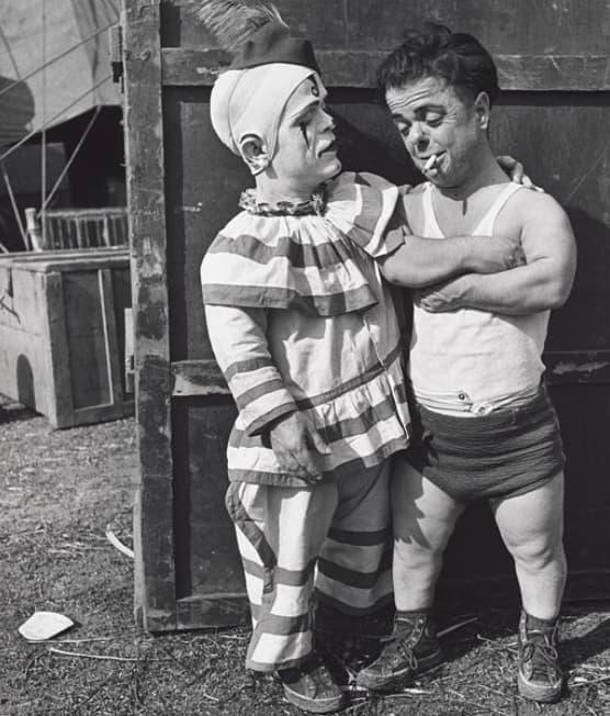 Two Midget Clowns