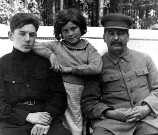 Stalin With His Children