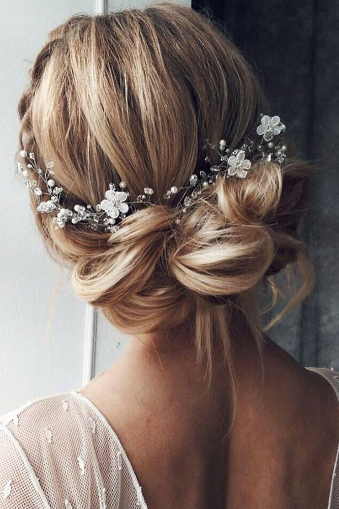 Regal Updo With A Jewel Crown