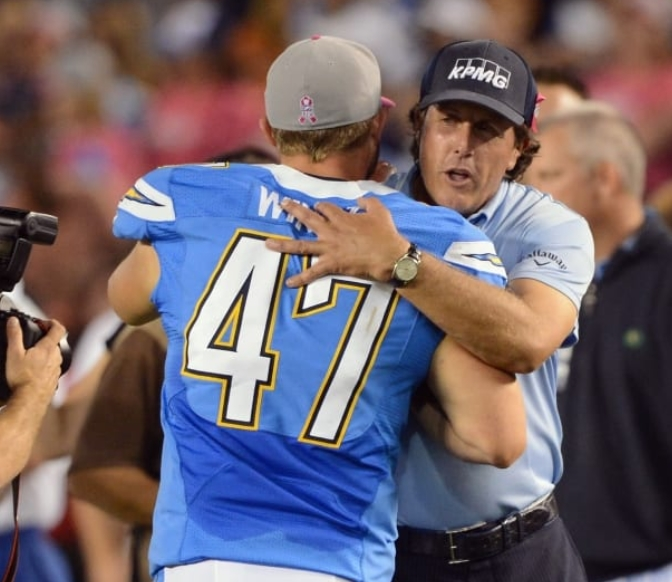 Phil Mickelson Los Angeles Chargers