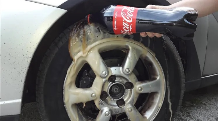 Clean Your Wheels With Coke
