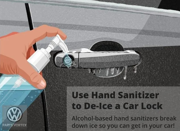 De Ice Your Keyholes With Hand Sanitizers
