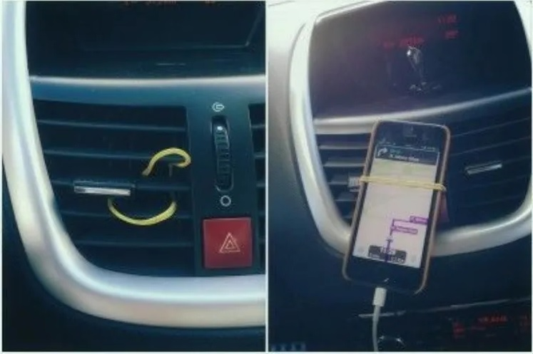 You Can Use Rubber Bands As Phone Holders
