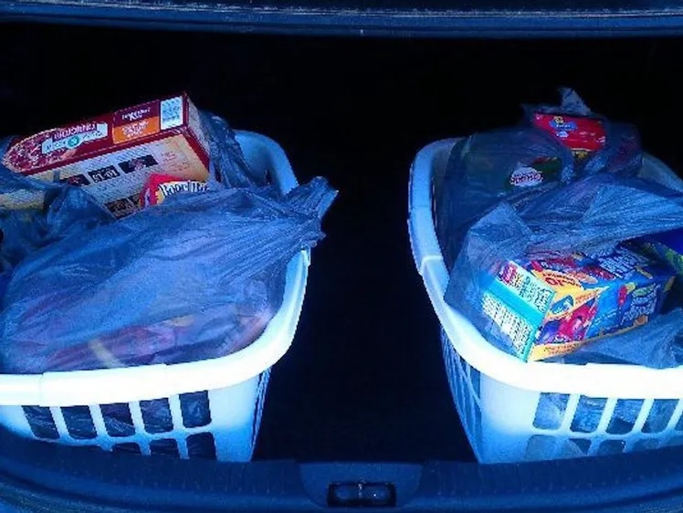 Make Grocery Shopping Easier With Laundry Baskets